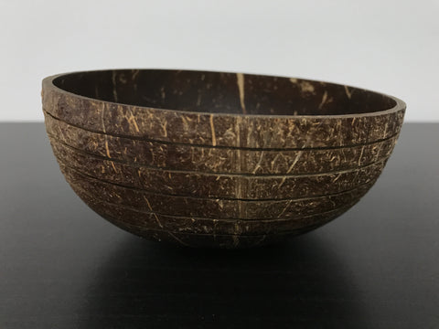 Coconut Bowl Tribal Design 4 (Handcrafted with Love)