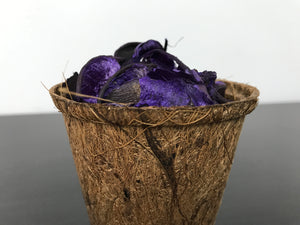 Potpourri Pot - Your choice of either (1) Lavender Purple or (2) Strawberry Rose Red