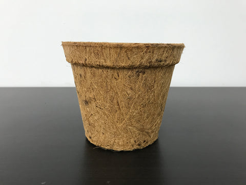 Biodegradable Round Coir Pots (Standard, Height 10cm)