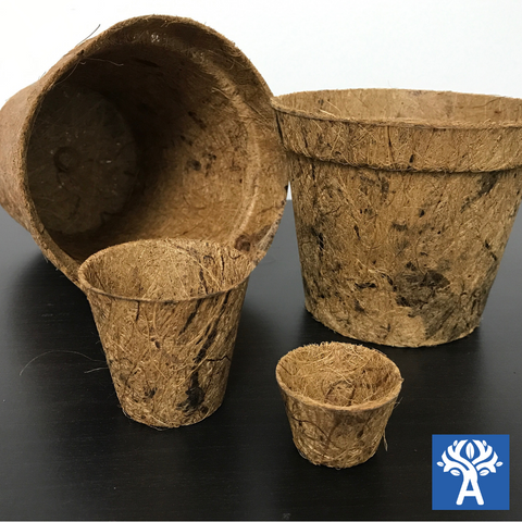 Biodegradable Round Coir Pots - Family of Four