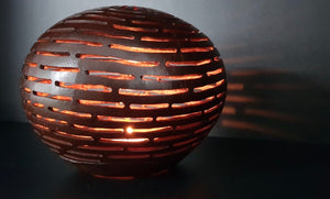 Handmade Coconut Shell Carving (Space Design)