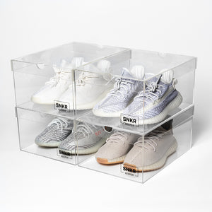 Snkr Keeper The Box display box with Yeezy boost