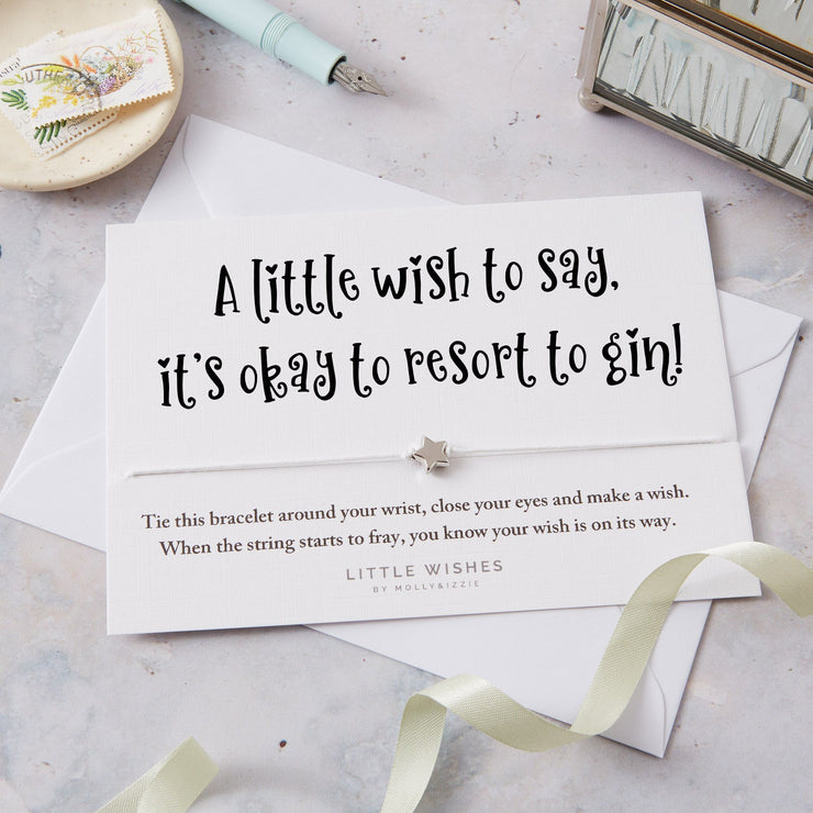 It's okay to resort to gin! Wish Bracelet