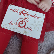 'Milk And Cookies For Santa' Wooden Sign