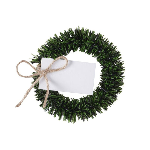 Christmas Wreath Name Place Cards