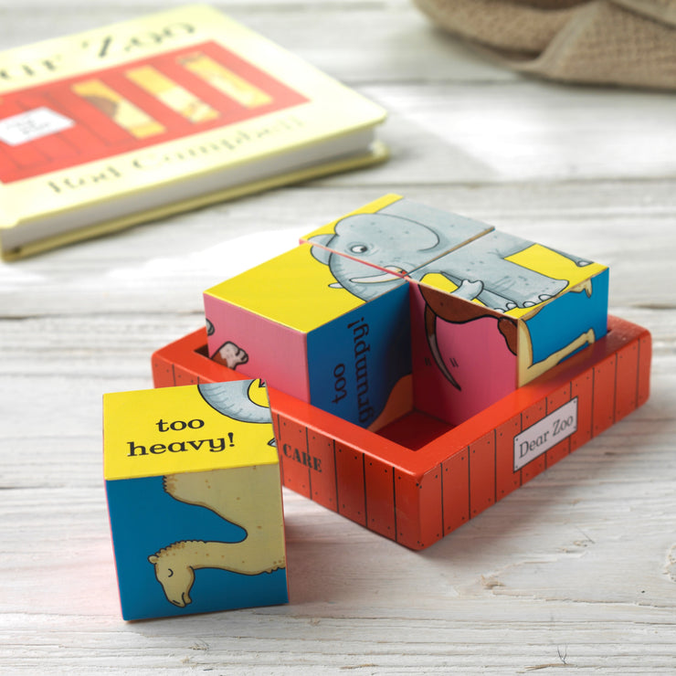 Dear Zoo Puzzle Block and Personalised Keepsake Bag