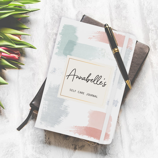 Personalised Pastel Abstract A5 Notebook