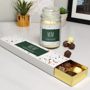 Personalised Candle Jar & Truffles Set