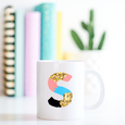 Personalised Colour Monogram Mug