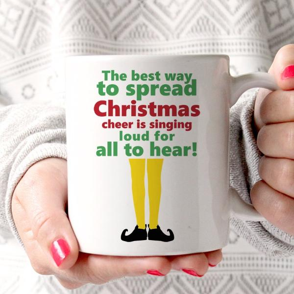 'Best Way To Spread Christmas Cheer' Elf Mug