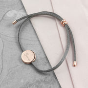 Personalised Signature Rose Gold & Grey Bracelet