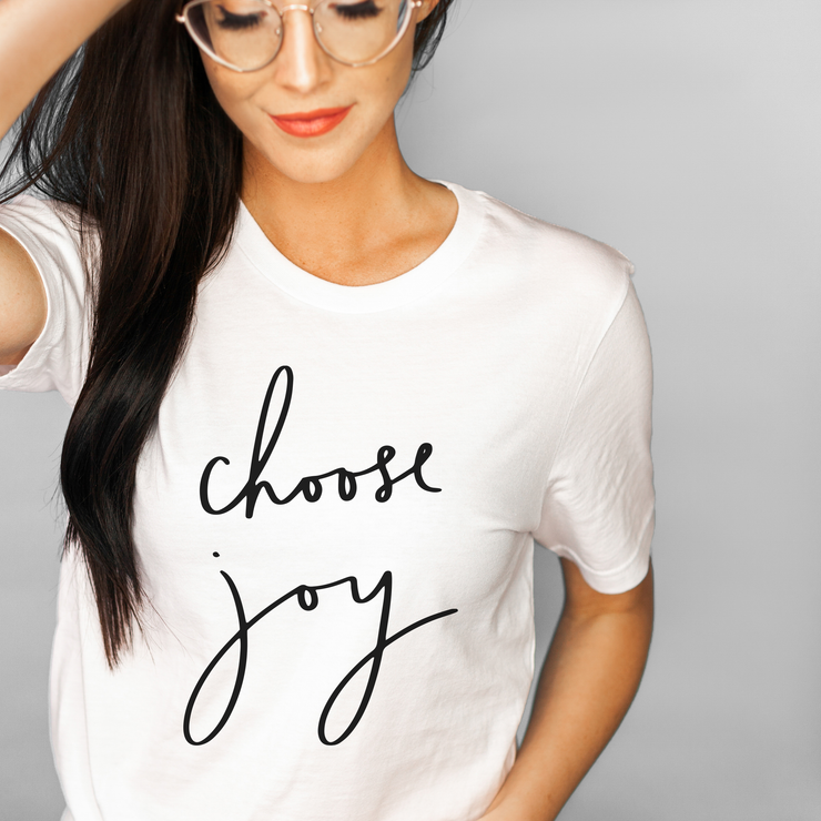 Choose Joy Slogan T-Shirt