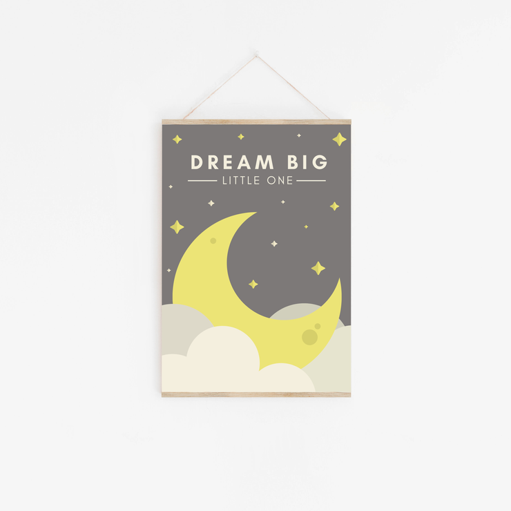 Dream Big Grey Childrens Print