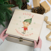 Personalised 'Elf Boy' Christmas Eve Box