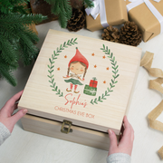 Personalised Festive 'Elf Girl' Christmas Eve Box