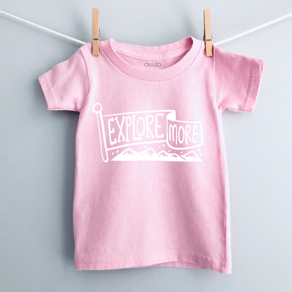 Explore More Pink Kids T-Shirt