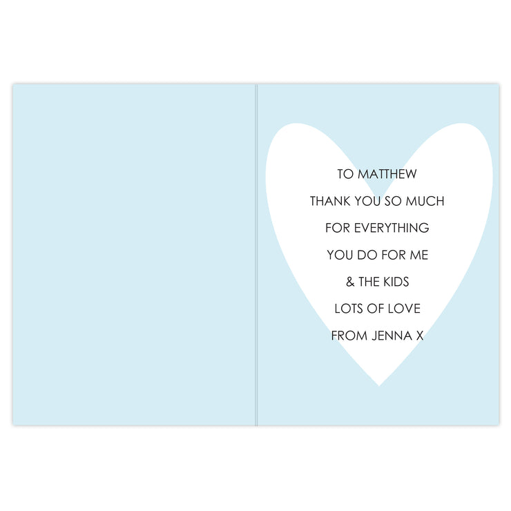 My Handsome Hubby Personalised Card (with Free Delivery)