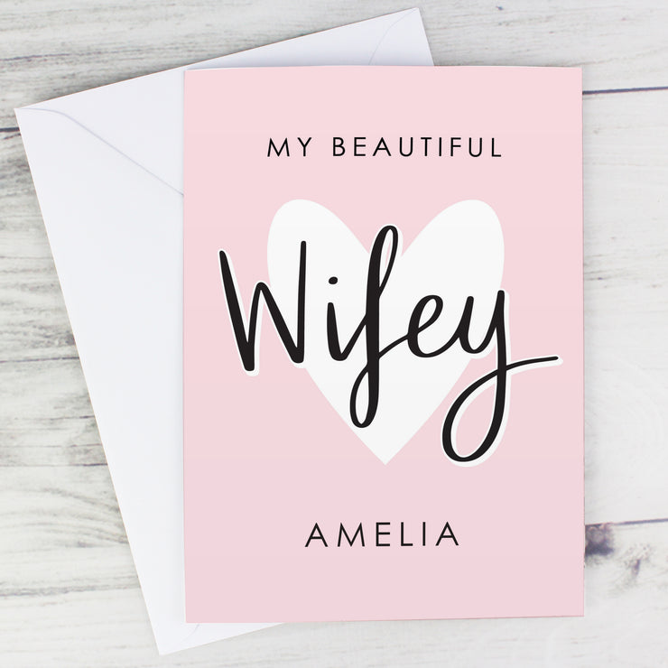 My Beautiful Wifey Personalised Card (with Free Delivery)
