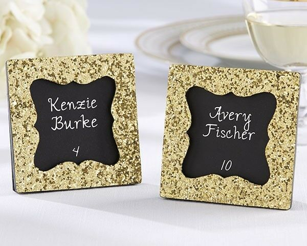 Gold Glitter Mini Place Card Frame