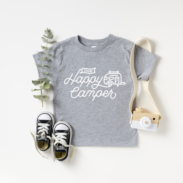 One Happy Camper Grey Kids T-Shirt