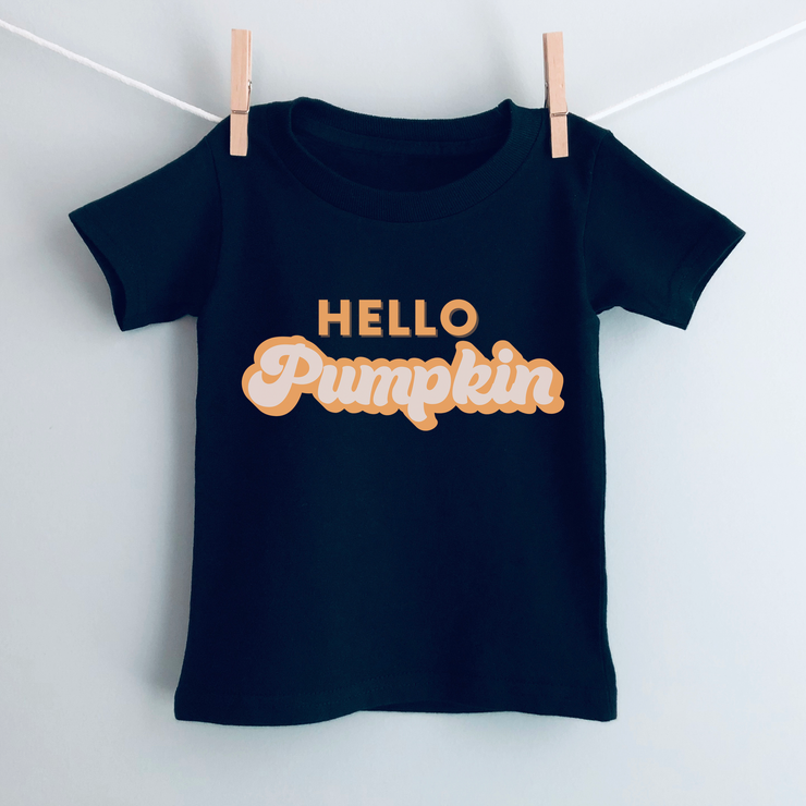 Hello Pumpkin Kids Halloween T-Shirt