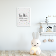 'Hello Little One' Geometric Nursery Print