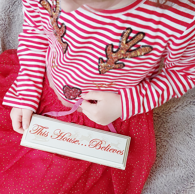 'This House…Believes' Wooden Christmas Sign