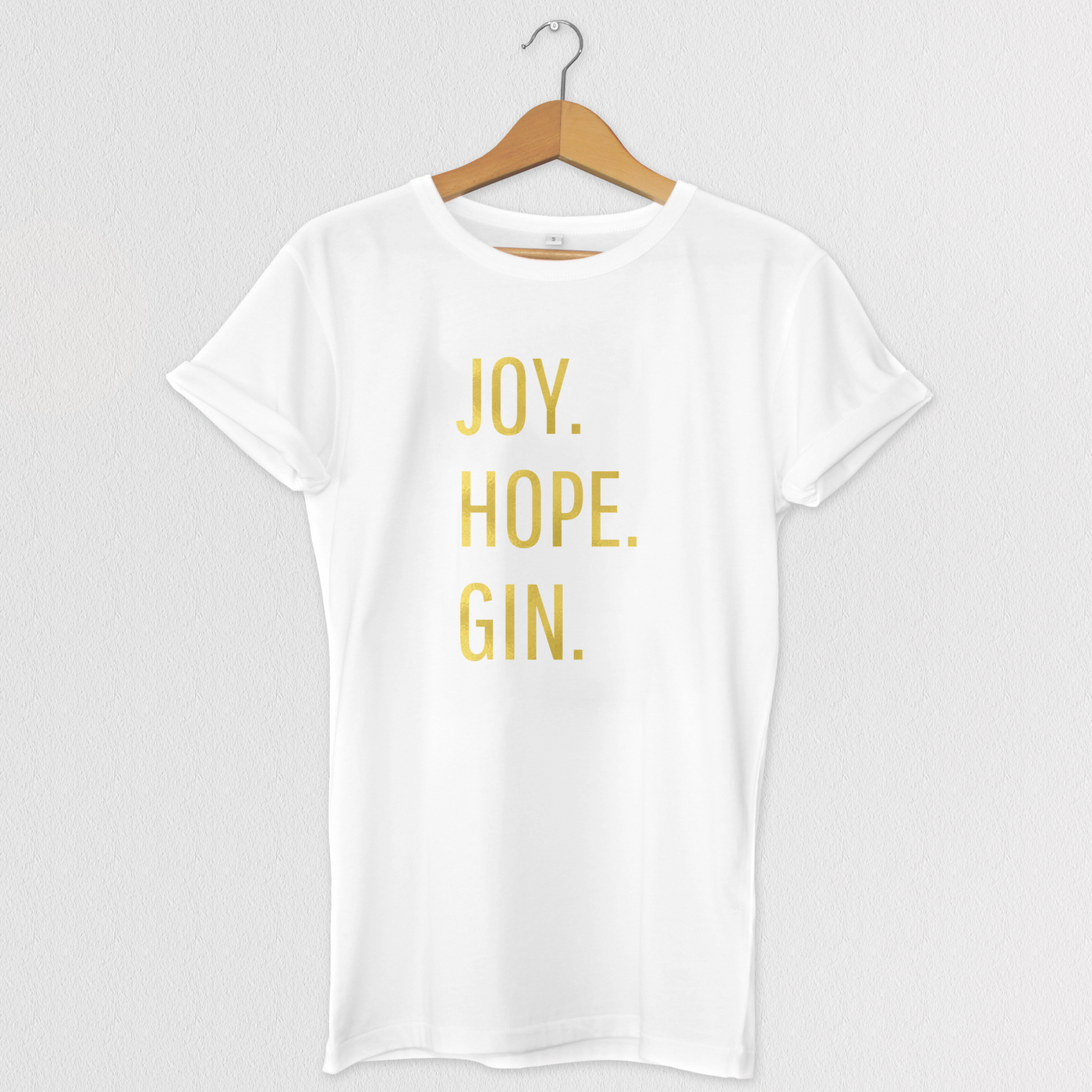 JOY HOPE GIN Christmas T-Shirt