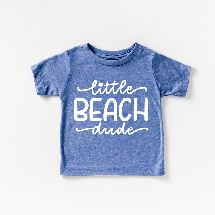 Little Beach Dude Blue Tri-Blend T-Shirt