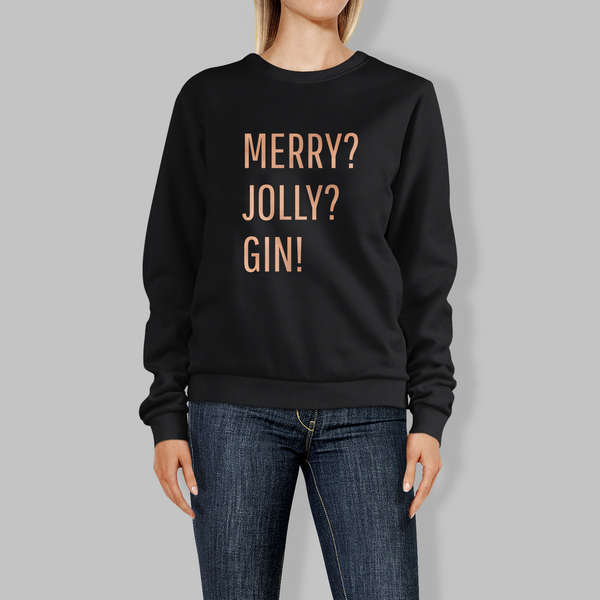 Merry? Jolly? Gin! Christmas Jumper