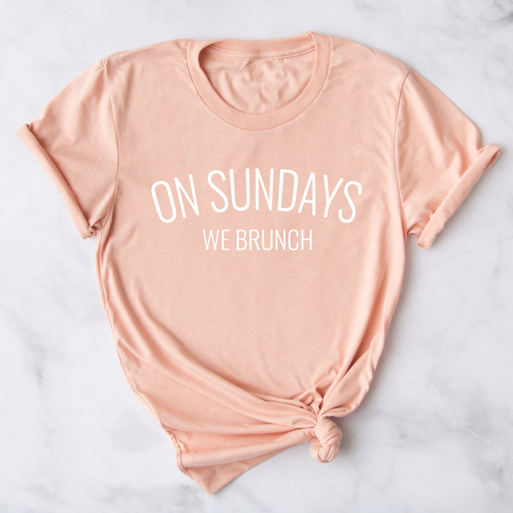 On Sundays We Brunch Womens Slogan T-Shirt