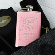 'Love Potion' Personalised Pink Hip Flask