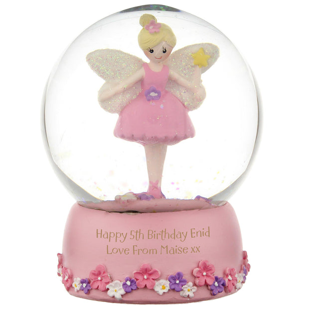 Personalised Christmas Fairy Glitter Snow Globe