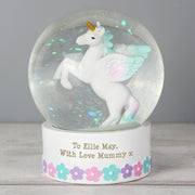Personalised Christmas Unicorn Snow Globe