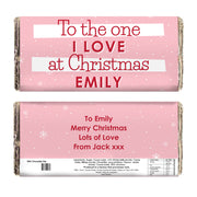 Personalised Very Merry Milk Chocolate Bar