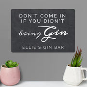 Personalised Bring Gin Metal Sign