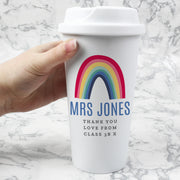 Custom Rainbow Insulated Eco Travel Cup