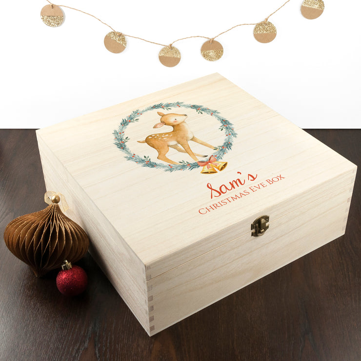 Personalised Festive Deer Christmas Eve Box
