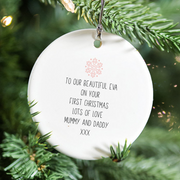 Personalised Baby's First Christmas Name Decoration