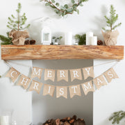 Hessian Burlap Merry Christmas Bunting