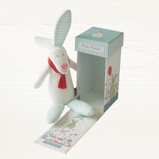 Baby Boy Rabbit Rattle