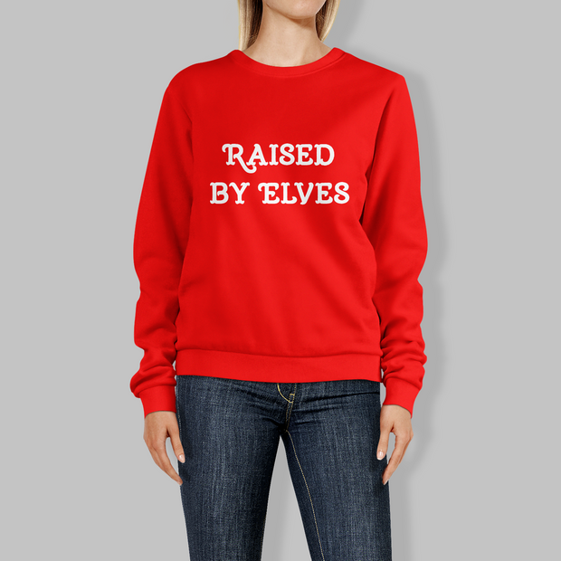 'Raised by Elves' Christmas Jumper