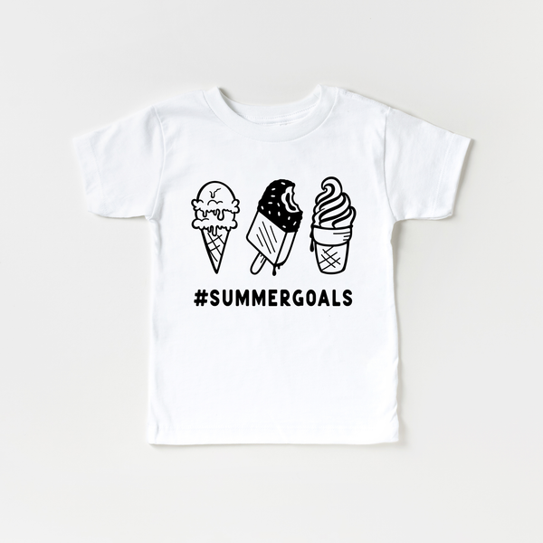 Summer Goals Ice Cream Kids T-Shirt