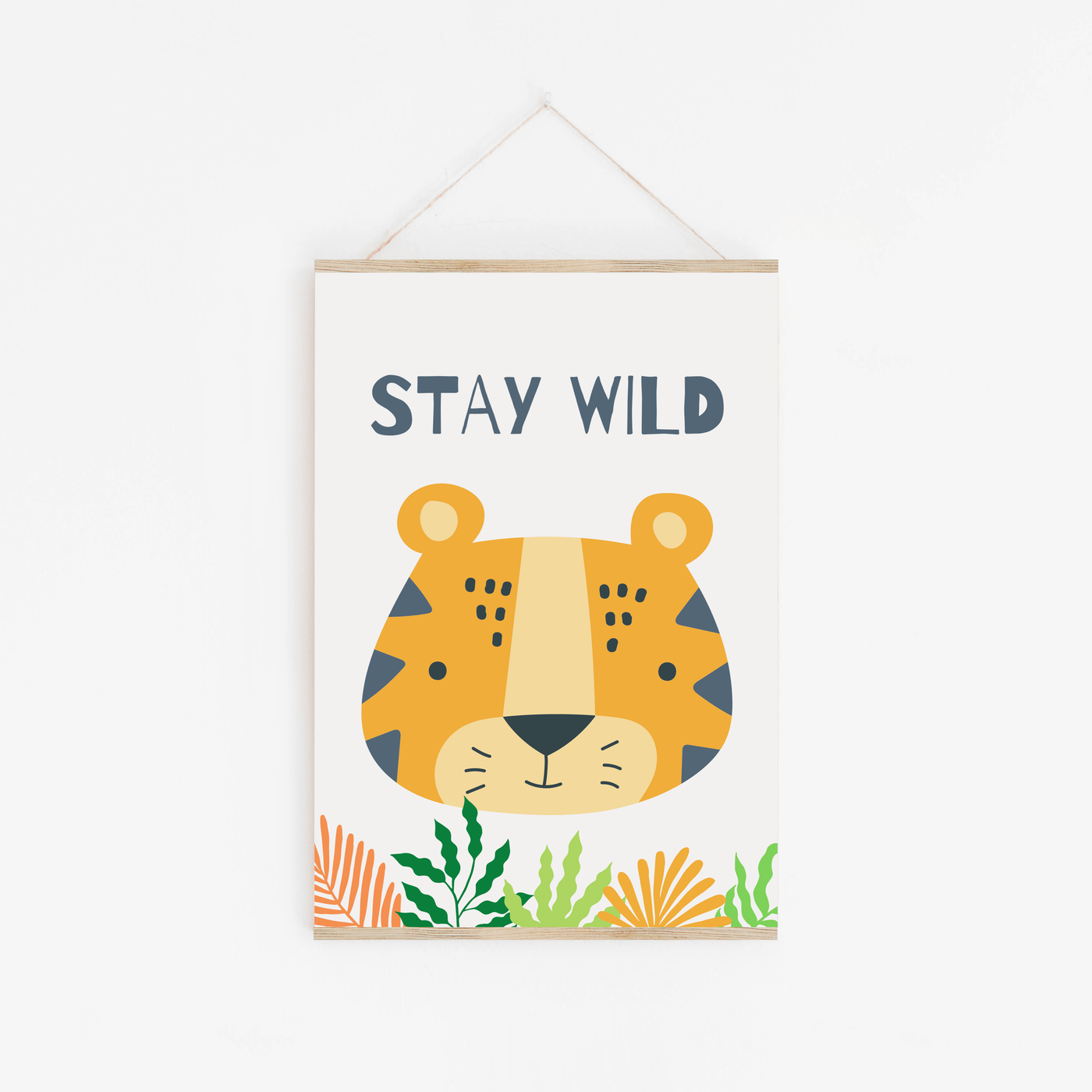 Stay Wild Tiger Childrens Print