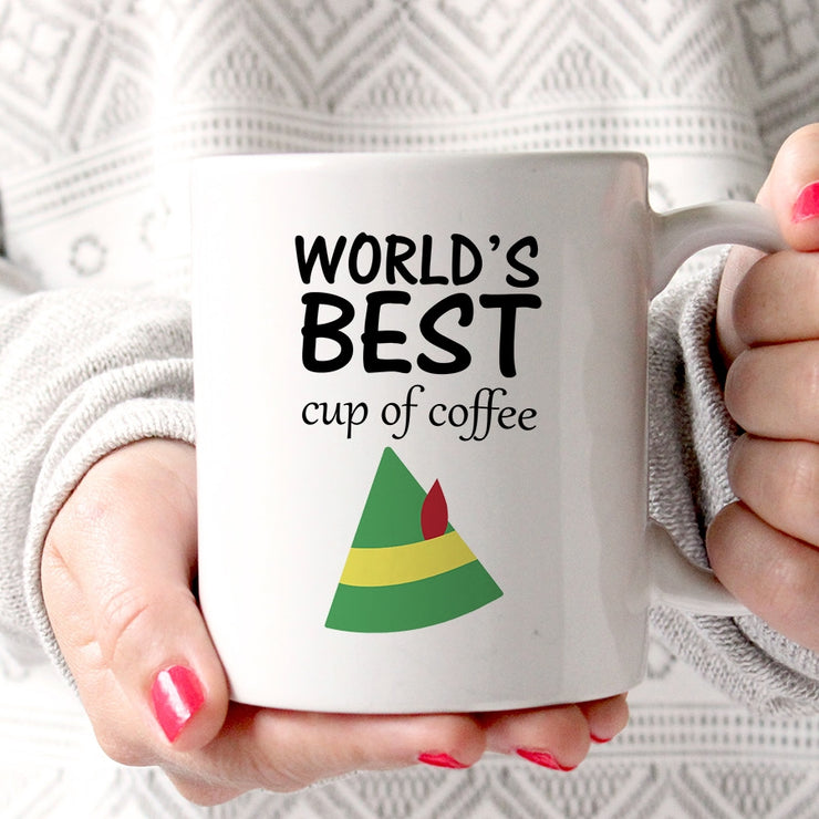 'World's Best Cup Of Coffee' Elf Mug