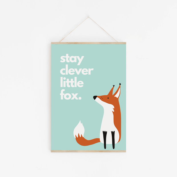 Clever Little Fox Childrens Print