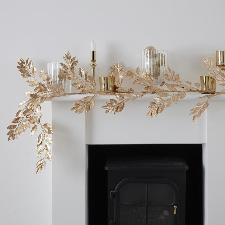 Gold Artificial Foliage Christmas Garland