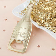 Gold Champagne Bottle Shaped Bottle Opener