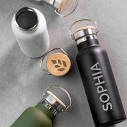 Personalised Insulated Bottle 17oz with Bamboo Lid