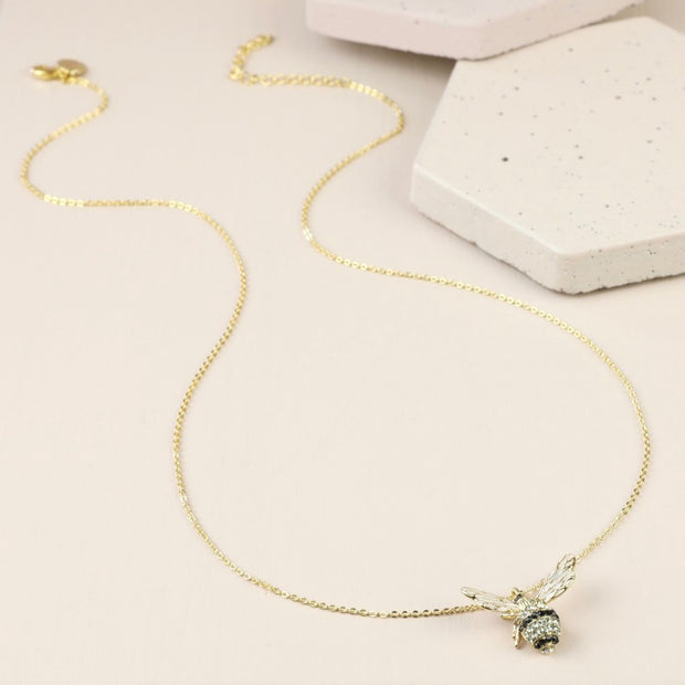 Crystal Bumblebee Pendant Necklace